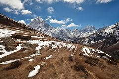 Mountain landscape in Sagarmatha, Nepal Stock Photo