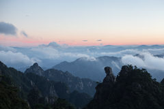 Mountain landscape on san qing shan in China Stock Photography
