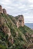 Mountain landscape at the Santa Maria de Montserrat monastery. S Stock Photography