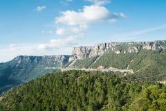 Mountain landscape in Sardinia. Mountain landscape along Road 125 between Baunei and Dorgali, Sardinia, Italy Stock Image
