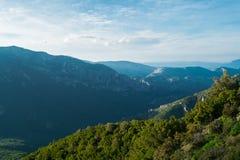 Mountain landscape in Sardinia. Mountain landscape along Road 125 between Baunei and Dorgali, Sardinia, Italy Royalty Free Stock Photos