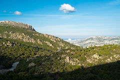 Mountain landscape in Sardinia Royalty Free Stock Photo