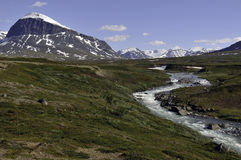 Mountain Landscape in Sarek National Park Royalty Free Stock Photos