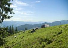 Mountain landscape scene Royalty Free Stock Photos