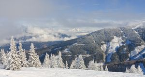 Mountain landscape. Schladming. Austria Royalty Free Stock Photography