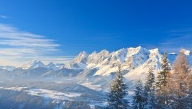 Mountain landscape. Schladming. Austria Royalty Free Stock Photo