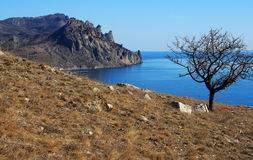 Mountain landscape and the sea. Photo 3415 Stock Photography