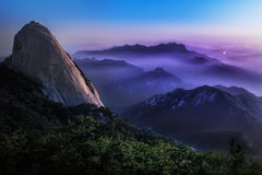 Mountain landscape. On seoraksan korea in morning Royalty Free Stock Images
