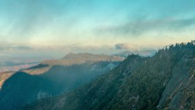 Mountain landscape in Sequoia National Park, USA. View from Moro Rock. Time lapse stock video
