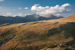 Mountain landscape with sheeps in Romania - Reteza Royalty Free Stock Photos