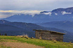 Mountain landscape with sheperd cottage Royalty Free Stock Images
