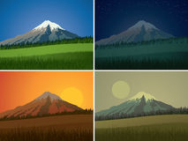 Mountain landscape showing day sequence Royalty Free Stock Image