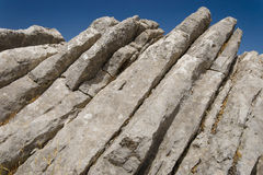 Mountain landscape at Sierra. De la Cabrera, Madrid, Spain. It is a granite batholith where geologic forces have created a boulder field of eroded granitic Stock Images