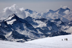 Mountain landscape skier stock photography