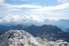 Mountain landscape  in Slovenia Royalty Free Stock Photo