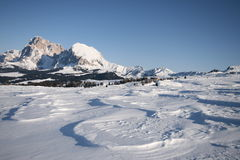 Mountain landscape, snow, dolomites alps Stock Image