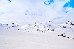 Mountain landscape with snow Royalty Free Stock Photo