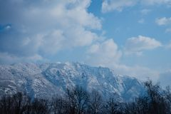 Mountain landscape after the snow royalty free stock photography