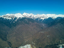 Mountain landscape in Sochi, the Caucasus. View from Air Royalty Free Stock Photography