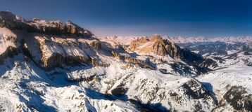 Mountain landscape and spine covered with snow. Marmolada, Dolomites, Italy Stock Photography