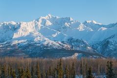Mountain Landscape. A mountain landscape on a spring day in Alaska Royalty Free Stock Photos