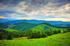 Mountain landscape in spring season Stock Photo