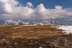 Mountain landscape in the spring. Tatry. Mountain landscape in the spring. Tatry stock images