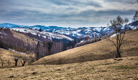 Mountain landscape on springtime Royalty Free Stock Photography