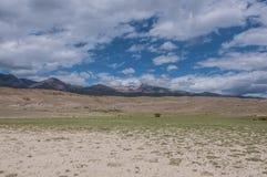Mountain steppe desert sky landscape Royalty Free Stock Photos