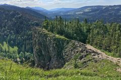 Mountain landscape with stony rocks, sunny summer day. View from the mountain Nosal, Tatry. Poland stock images
