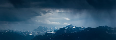 Mountain landscape before storm. Mounts Sofiya and Karakaya. Stock Image
