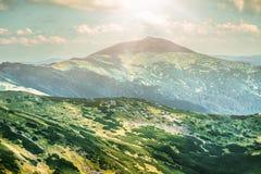 Mountain landscape in summer Stock Photos
