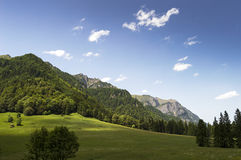 Mountain landscape on a summer day in Romania Stock Image