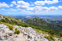 Mountain landscape in summer on the island of Mallorca Stock Photo