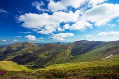 Mountain landscape in summer season, Rodnei Mountains, Romania Stock Photos