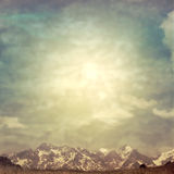 Mountain. Landscape in summer style Royalty Free Stock Images