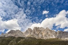 Mountain landscape in a sunny day in Ruta del Cares, Asturias, Spain stock image