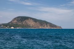 Crimea, Mountain landscape, Sunny summer, Black Sea coast Stock Photography
