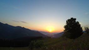 Mountain Landscape. Sunrise. stock footage