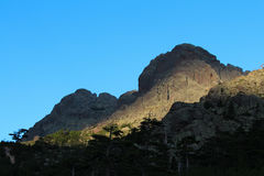Mountain landscape at sunrise, Corse, France. GR20. Stock Photography