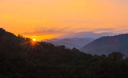 Mountain Landscape and Sunrise Stock Photography