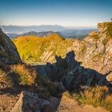 Mountain Landscape at Sunset Stock Photos