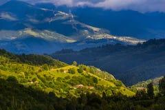 Mountain landscape. Sunset over Parang Mountains, Valea Jiului Royalty Free Stock Image