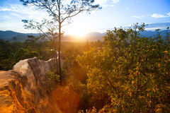 Mountain landscape at sunset in Thailand. Nature. Royalty Free Stock Image