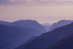 Mountain landscape in sunset time Royalty Free Stock Photo