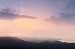 Mountain landscape. Suunrise photographed during in the mountains Stock Photo