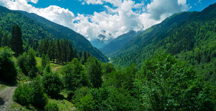 Mountain landscape in Svaneti Stock Photography