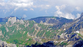 Mountain landscape in the Swiss Alps Royalty Free Stock Image