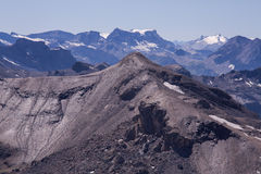 Mountain Landscape. In the Swiss Alps. View from Mt. Schilthorn Stock Images