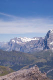 Mountain Landscape. In the Swiss Alps. View from Mt. Schilthorn Royalty Free Stock Image